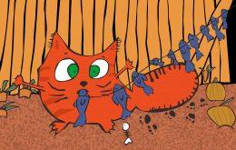 Gato peces Dictando